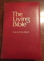 The Living Bible Paraphrased RED Cover 1971 Tyndale House Padded Hardcover - $14.26