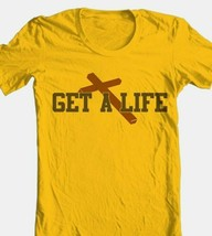 Get A Life T-shirt Free Shipping religious christian 100% cotton gold tee image 1