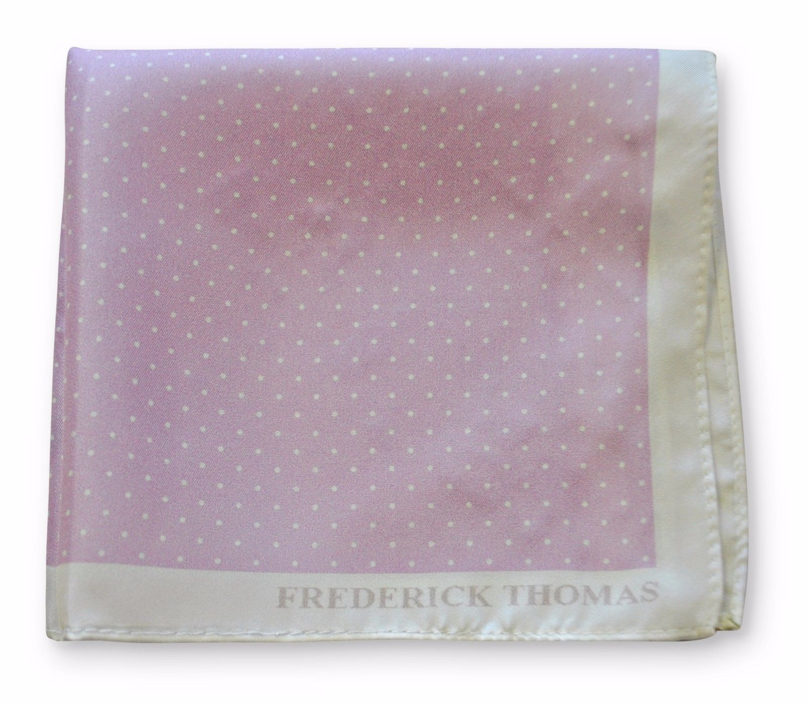 Frederick Thomas 100% silk lilac & pin spotted pocket square handkerchief FT3357