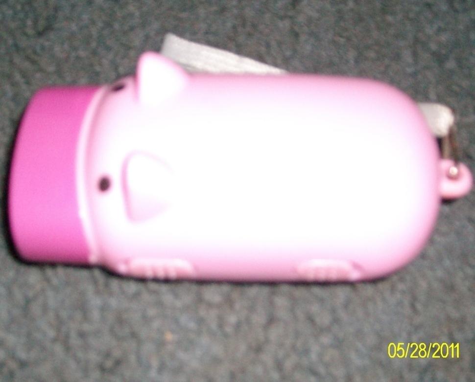 New Pink 2 LED Pig Wind-Up Dynamo Flashlight  Torch Lamp image 2