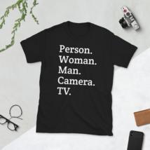 person woman man camera tv / person woman man camera tv T-Shirt image 2