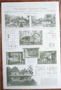 1919 Photo Article Rustic Summer House Carey Edmunds