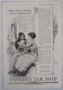 1919 Packer's Tar Soap Mother & Daughter Vintage Ad