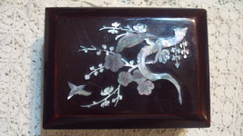 Plastic Jewelry Box - Small - Japanese style - Birds and Flowers - $9.99