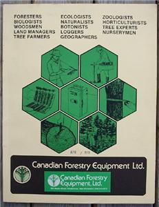 1978 Canadian Forestry Equipment Limited Catalogue 86 Pages