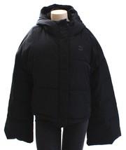 Puma Black Cropped Puffa Jacket Cropped Hooded Puffer Jacket Women's NWT - $149.99