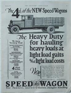 1927 REO Speed Wagon Heavy Duty Truck Ad