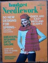 Budget Needlework Magazine, March1972 V1 No3 Stitchery - $4.50