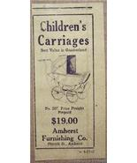 1918 Children's Carriages Ad Amherst Furnishing Co. - $4.50
