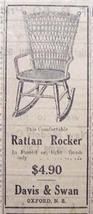 1920 Rattan Rocker, Beaver Board, & Brantford Slate Ads - $4.50