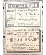 1917 Opera House & Imperial Theater Saint John NB Ad - $4.50