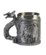 Medieval-inspired Mug serpentine dragon  Fully ... - $11.89