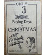 1920 Gillette Safety Razor Christmas Gift Newspaper Ad - $5.00