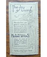 "1920 Dr Wilson's Herbine Bitters ""The Joy of Living"" Ad - $3.50"