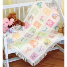 Baby Hugs ABC Afghan baby counted cross stitch ... - $38.70