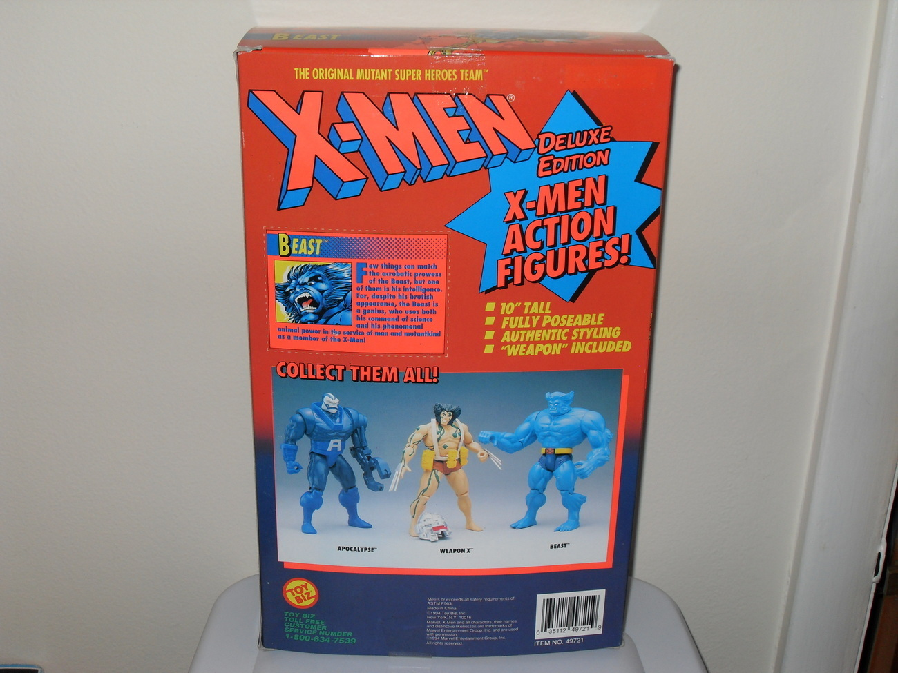 1994 X Men Beast 10 Inch Fully Poseable Figure In The Box