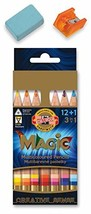 KOH-I-NOOR MAGIC Jumbo Triangular Coloured Pencil Pack of 12 + 1 - $27.28