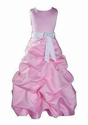Per Bambina Da Festa Damigella Vestito Per Spettacolo 1-13 Y Rosa+Fascia image 10