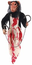 Butcher Pig 36 Inches Hanging  Decoration Long Bloody Apron Halloween - £19.32 GBP