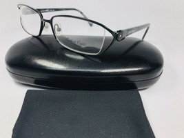New Calvin Klein Collection 494 599 Black & Grey Eyeglasses 52mm with Case - $59.35