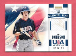 2013 Kel Johnson Panini USA Baseball Rookie Jersey 059/199 - $2.84
