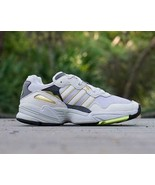 NEW IN BOX ADIDAS YUNG 96 SNEAKER DAD SHOES METALLIC GREEN GOLD sz 10 - $59.38