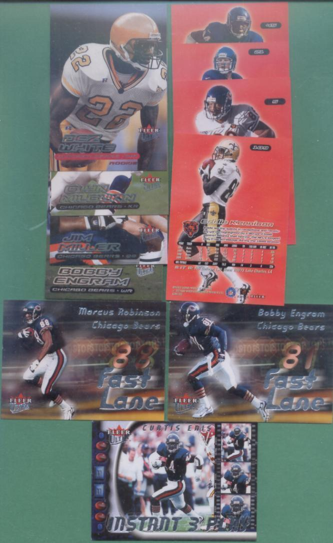 2000 Fleer Ultra Chicago Bears Football Team Set