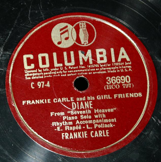 "Frankie Carle ""Diane & Charmaine""    78"