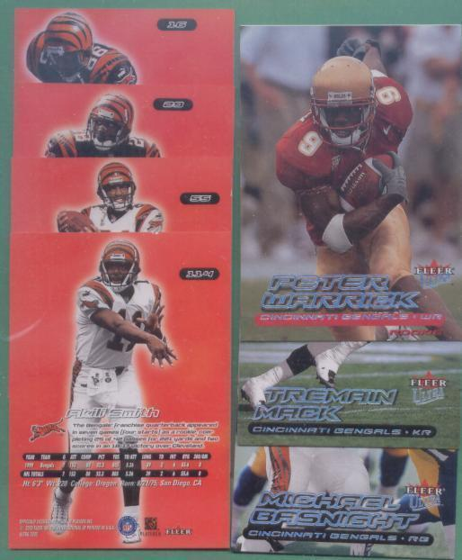 2000 Fleer Ultra Cincinnati Bengals Football Team Set