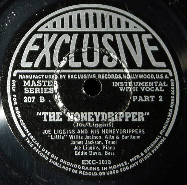 "Joe Liggin And His Honeydrippers "" The Honeydripper""     78"