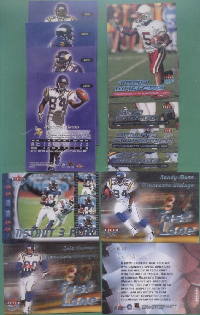 2000 Fleer Ultra Minnesota Vikings Football Set
