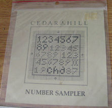 "Pattern: ""Number Sampler"" Cross Stitch - $5.00"
