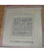 "Pattern: ""Number Sampler"" Cross Stitch - $5.69"