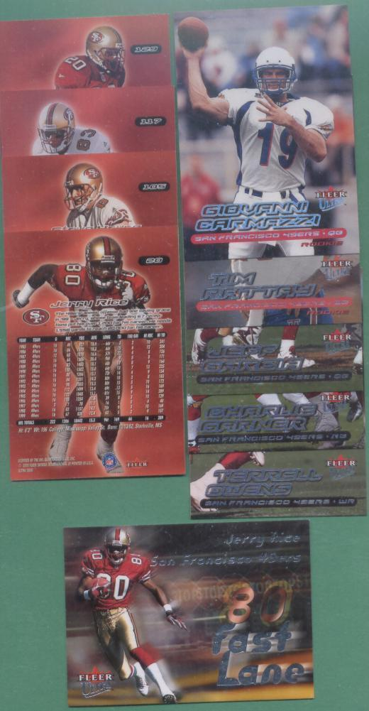 2000 Fleer Ultra San Francisco 49ers Football Team Set