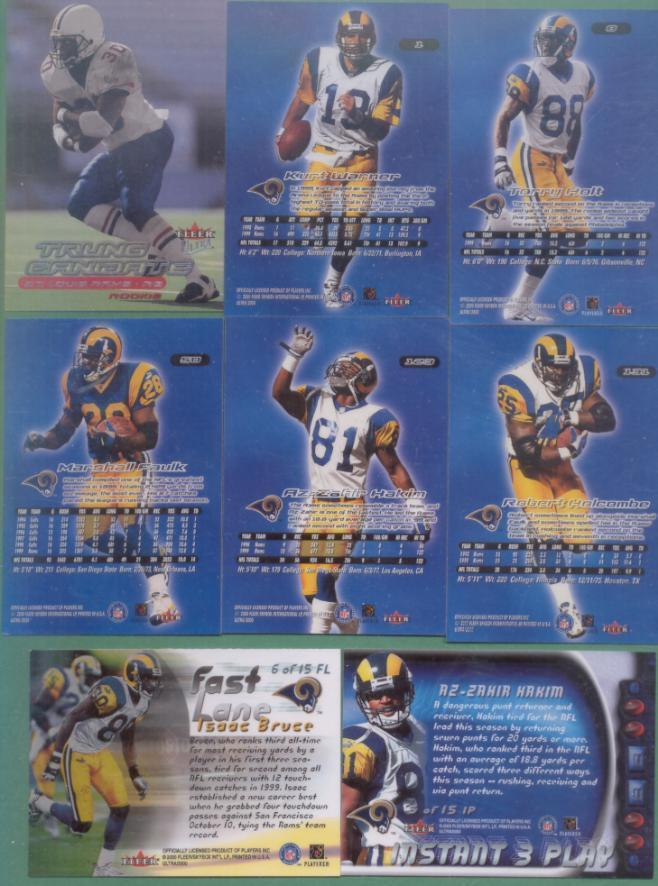 2000 Fleer Ultra St. Louis Rams Football Team Set