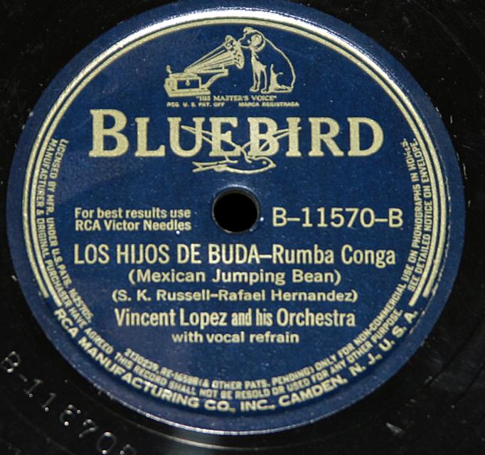 """Vincent Lopez & Orch.""""Los Hijos De Buda & Cachita""""    78"""