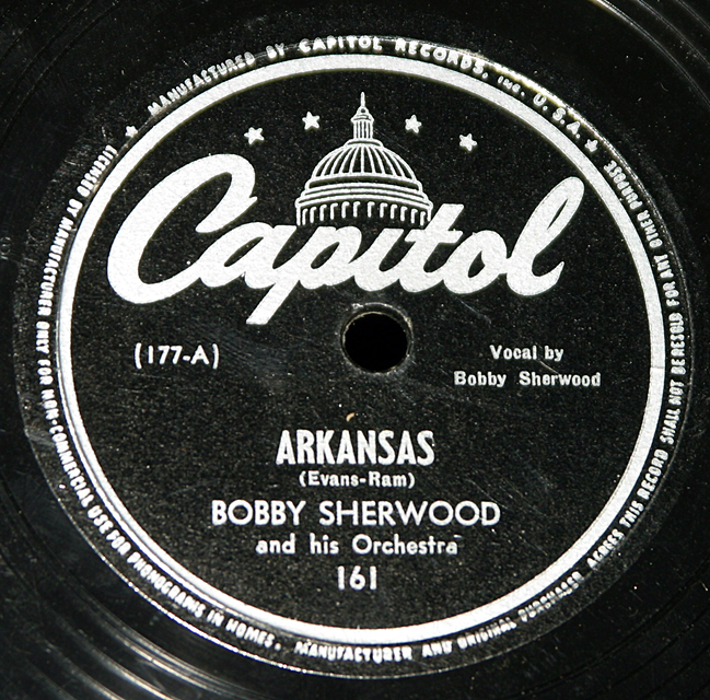 "Bobby Sherwood ""Swingin' At The Semloh & Arkansas""   78"