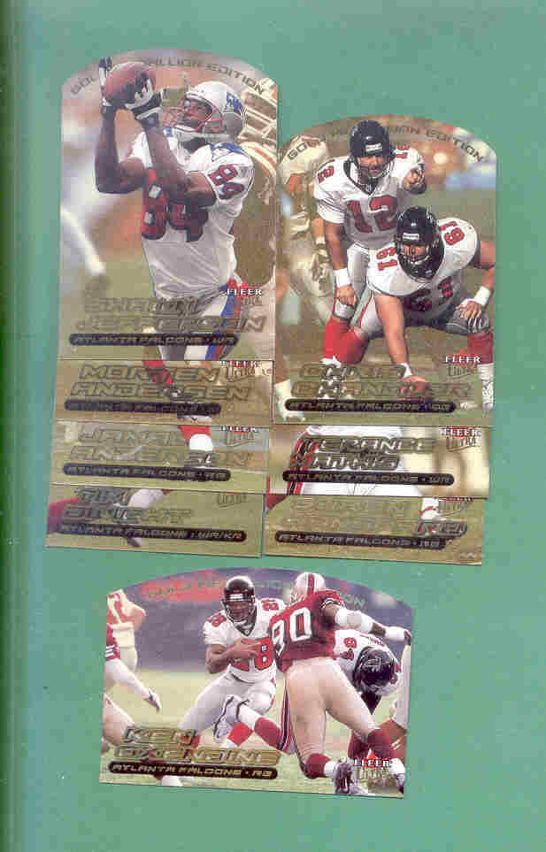 2000 Ultra Gold Medallion Atlanta Falcons Football Team Set
