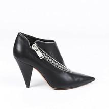 Celine Leather Pointed Zip Booties SZ 36 image 1
