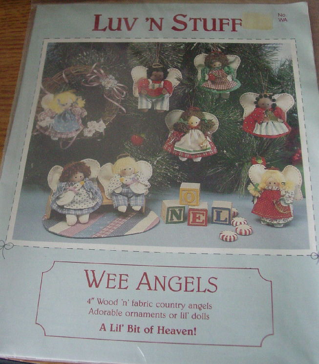 Pattern: Wee Angels Wood & Fabric Ornaments or Dolls