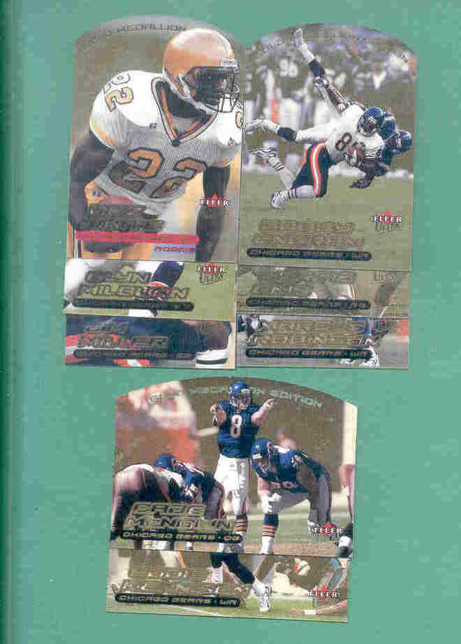 2000 Ultra Gold Medallion Chicago Bears Football Team Set