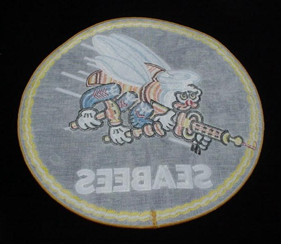 U.S. Navy Usn Large Seabees Cloth Flight Jacket Patch