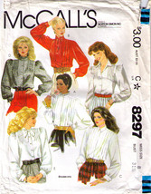 1982 BLOUSES Pattern 8297-m Size 8 - Complete - $9.99