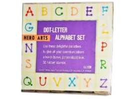 Hero Arts Dot-Letter Alphabet Set - $10.99