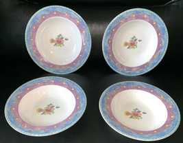 "Lot 4 Sango Sue Zipkin 3042 Birds And The Bees Large Soup Bowls Unused 8.75"" - $31.99"