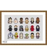 Cross Stitch Pattern Star Wars New Trilogy Characters, Cross Stitch Chart PDF - $3.32