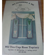 Painting Pattern: Tea Cup Rose Topiary - $3.00