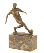 Antique Home Decor Bronze Sculpture soccer player World Cup Russia 2018 ... - $179.00