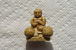 Old Vintage Small Mini Little Figurine Wade England 2 1 Ton Weight Lifte... - $9.99