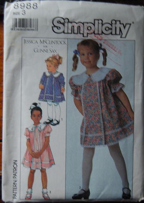 Pattern 8988 Designer Child's dress sz 3